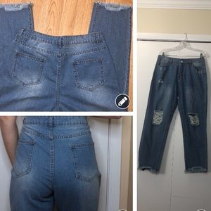 Vintage 90's cropped high waisted mom jeans